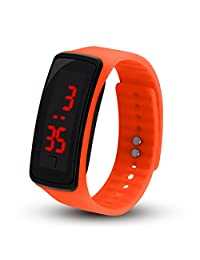 Digital Watches for Boys Girls Men Women, LED Silicone Sport Slim Ring Silicone Wrist Watches