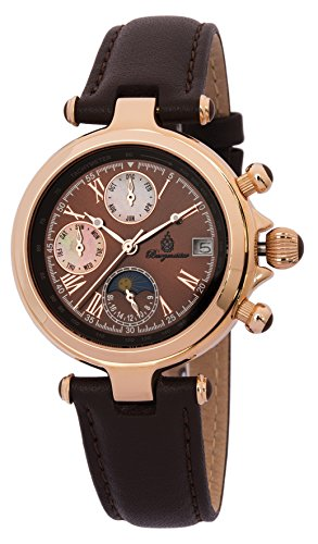Burgmeister Women's BM216-365 Analog Display Automatic Self Wind Brown Watch