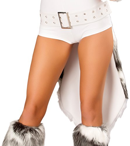 J Valentine Husky Costume - J. Valentine Women's Husky Belt with Tail, White/Grey, One Size