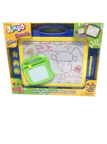 Jumbo Color Doodle Drawing Board Set w/ Super Bonus Smaller Board-Colors may vary ()
