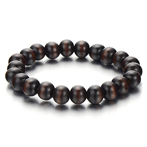 Mens womens wood bracelet 10mm tibetan beads buddhist for Zen culture jewelry reviews