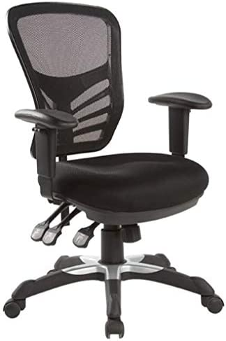 Hercke Deluxe Mesh Back Ergonomic Lumbar Support Multi-Function Adjustable Office Chair 360 Degree Swivel 330lb Capacity Black