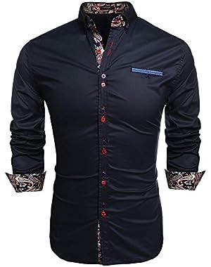 Men's Slim Fit Dress Shirt Casual Button Down Shirts