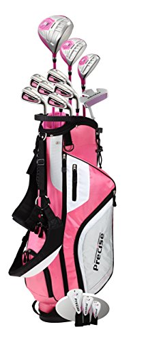 Top Line Ladies Pink Right Handed M5 Golf Club Set for Petite Ladies ( Height 5' to 5'3
