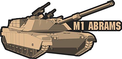 Military Vet Shop Magnet US Army M1 Abrams Tank Vinyl Magnet Car Fridge Locker Metal Decal ()