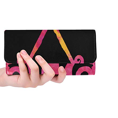 Unique Custom Butterfly Pink Clipart Cute Flying Wings Nature Women Trifold Wallet Long Purse Credit Card Holder Case Handbag