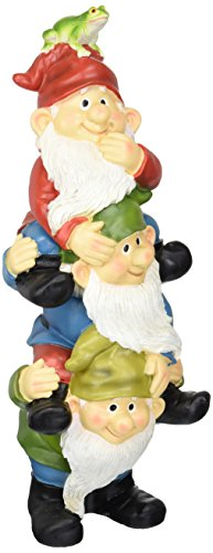 garden gnome statue tower of three gnomes outdoor garden gnomes funny lawn gnome statues - Funny Garden Gnomes