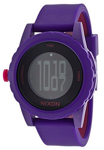 Nixon Women's Genie Purple and Pink Silicone Black Dial (Watches Nixon Genie)