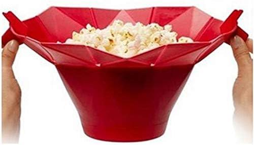 Bigherdez Silicona Microondas Fabricante de palomitas de maíz Popcorn Popper Hecho en casa Delicioso Popcorn Tazón de fuente Herramientas para hornear Cocina Utensilios para hornear DIY Cubo: Amazon.es: Hogar