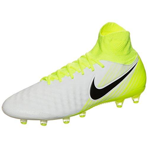 Nike 843811-375, Scarpe da Calcio Uomo 109 WHITE/BLACK-VOLT-PURE PLAT