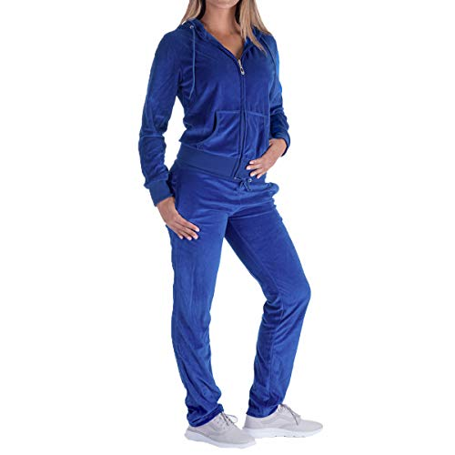 - Evrimas Women's 2 Piece Outfits Velvet Zip Hoodie Sweatshirt & Sweatpants Sweatsuits and Velour Tracksuit Sets Jogging Suit