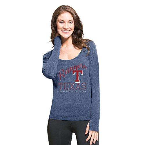 MLB Texas Rangers Women's '47 Dash Long Sleeve Tee, Small, Shift (Texas Rangers Long Sleeve)