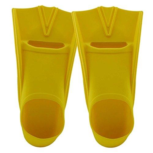 TOPCHANCES ®のフィンメンズレディースSwim and Kids Shortトレーニングのフィンダイビング、シュノーケリング、水泳、ウォータースポーツイエロー  F800(S)33-35 B01FXIXGUO