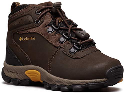 Columbia Unisex-Kid's Youth Newton Ridge Hiking Shoe, Cordovan/Golden Yellow, 4