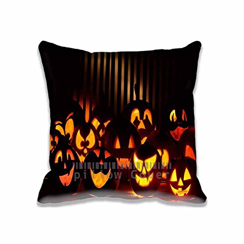 20x20 inch Halloween Pumpkins In The Dark pillow cushion cases Polyester Cotton Eco friendly Home Pillow Protector (Dollar General Halloween 2017)