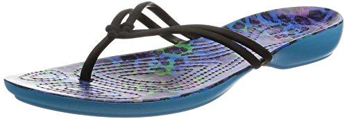 Crocs Isabella Graphic, Sandalias Flip-Flop para Mujer Varios colores (Multi /                                 Leopard)