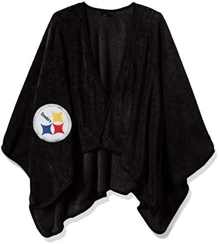 The Northwest Company Officially Licensed NFL Pittsburgh Steelers Silk Touch Throw Blanket Wrap with Applique