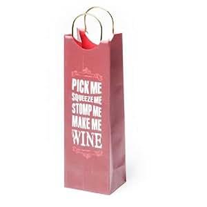 Revel Paper 0958 Make Me Wine Single Bottle Paper Wine Bag, Pink