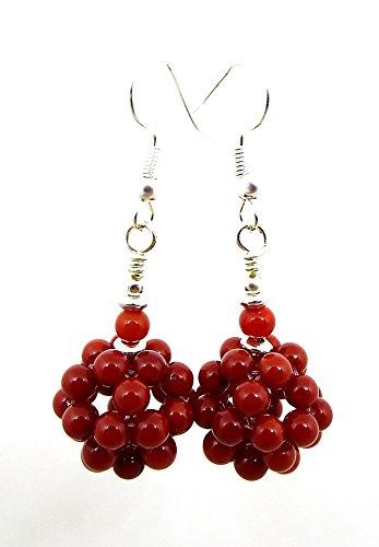 Coral Ruby Earrings - 3