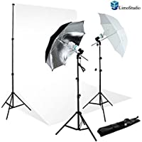 Limo700W Light Photo Video Umbrella Lighting Kit, 10 X 10 Ft. Backdrops Backgrounds Support Kit, Agg711