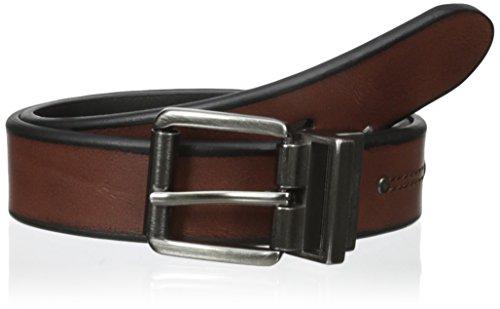 - Levi's Boys' 30mm Reversible Beveled Edge Belt with Rivet, Brown/Black, Medium/26-28 Inches