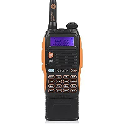 Baofeng Pofung GT-3TP Mark-III Tri-Power 8/4/1W Two-Way Radio Transceiver with 7.4V 3800mAh Battery, Dual Band 136-174/400-520 MHz True High Power Two-Way Radio with Upgraded Chip+Antenna+Car Charger