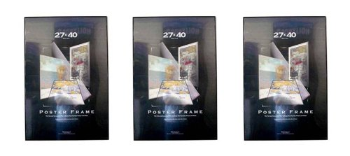 (3) Three 27x40 Movie Poster Frames 27x40 Thin Profile Value Pack