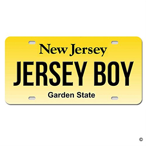 MsMr License Plate Cover Jersey Boy New Jersey Metal License Plate Cover Decorative Car License Plate Auto Tag Sign 6x12 Inch