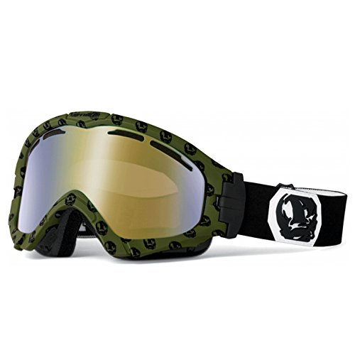 ARNETTE SERIES 3 SNOW GOGGLE AN5001 FOR SKIING AND SNOWBOARD (Olive Skulls w/ Mocha Chrome - Arnette Ski Goggles