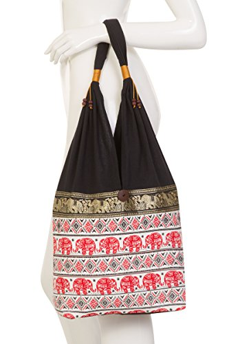 Hippie Bag Red Thai 2 Elephant Terrace Design dnCTdfvqw0