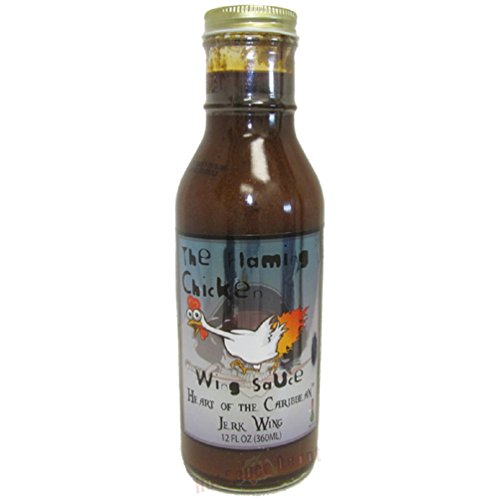 Jamaican Jerk Chicken Wings - The Flaming Chicken Heart of the Caribbean Jerk Wing Sauce, 12oz