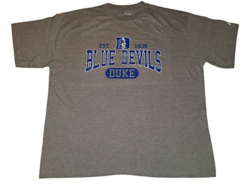 Duke Blue Devils T-shirt Est. 1838 Logo Tee Big and Tall (3X) - Russell Pro Cotton