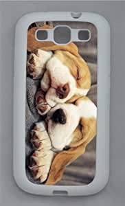spec cases beagle puppies TPU White case/cover for Samsung Galaxy S3 I9300