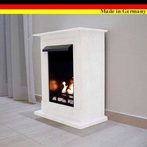Ethanol und Gelkamin Modell Madrid Premium - Gratis zum Kamin das komplette Zubehör - Wählen Sie aus 9 Farben (Weiss)