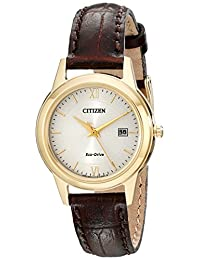 Citizen Women's FE1082-05A Ladies Straps Analog Display Japanese Quartz Brown Watch