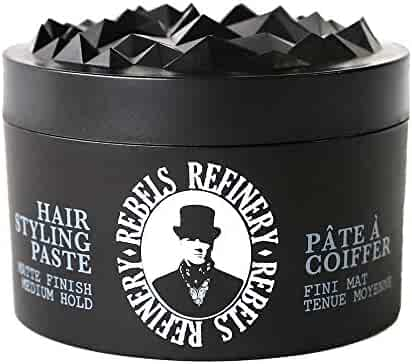 Rebels Refinery Hair Styling Paste for Men – Medium, Flexible Hold and Matte Finish – Adds Texture and Thickness to Thinning Hair – Water-Based Formula – 3.5 Oz.