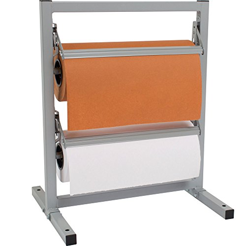 """Bulman T367R-9 9"""" Two Deck Tower Paper Rack with Straight Edge Blade"""