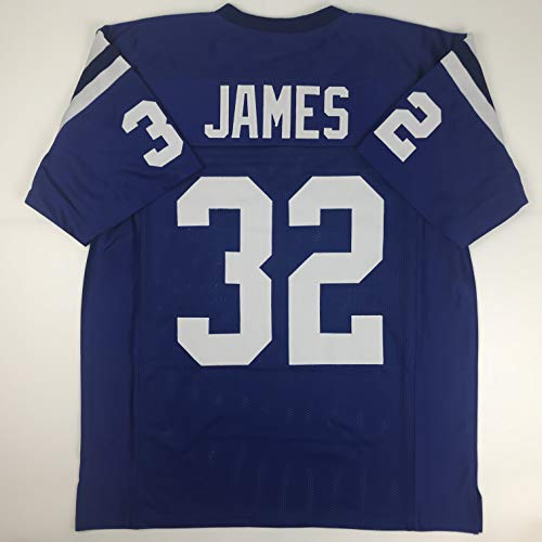 Unsigned Edgerrin James Indianapolis Blue Custom Stitched Football Jersey Size Men's XL New No Brands/Logos