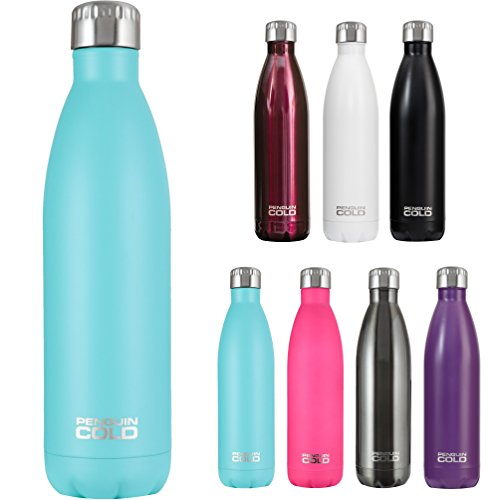 - Penguin Cold Insulated Stainless Steel Bottle - 25 oz. BPA-free Water Bottle with Stainless Steel Lid (Teal)