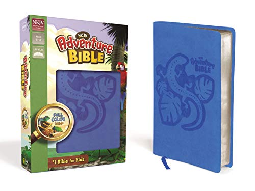 NKJV, Adventure Bible, Leathersoft, Blue, Full Color (Charlotte Christmas In Events)