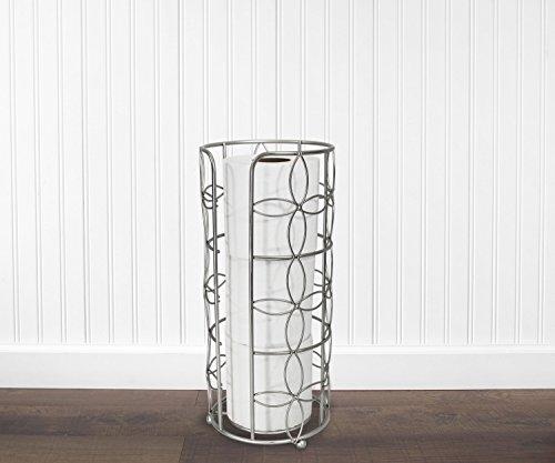 Vanderbilt Home Freestanding Toilet Paper Holder in Satin Nickel - Elegant