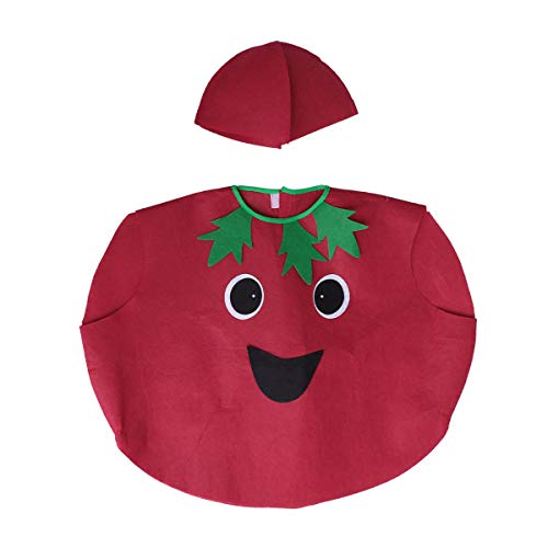 PRETYZOOM Kid's Tomato Costume Fruits Vegetables Costume