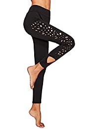 Womens Cutout Leggings Skinny Yoga Pants Runing Jogger Active Tight