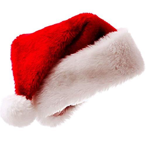 Christmas Santa Hat Plush Red Velvet