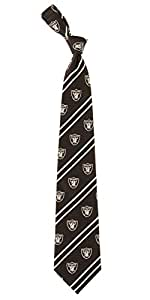 Eagle Wings 3491 Oakland Raiders NFL Cambridge Stripe corbata