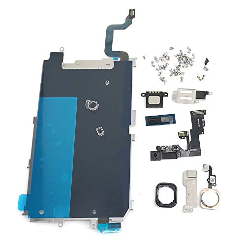 Screen LCD Metal Bracket Front Camera Flex Cable Small Parts Replacement for iPhone 6 (Gold)