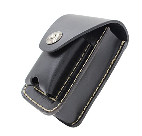 Handmade Sewing Genuine Leather Cigarette Case Lighter Holder Combo Bag Pack Cases Small Fanny Pack ()