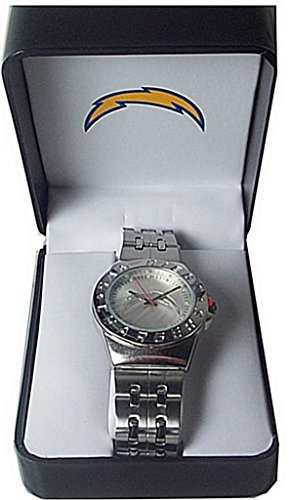 San Diego Chargers Nfl Embossed Logo Dial Watch in Gift Box