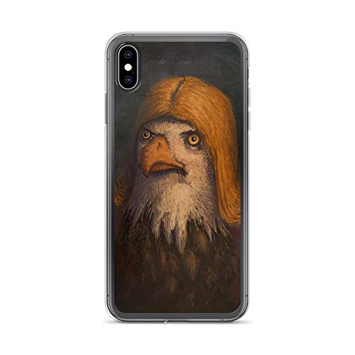 iPhone Xs Max Case Anti-Scratch Creature Animal Transparent Cases Cover Notsobald Eagle Animals Fauna Crystal Clear