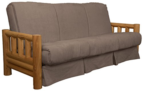 Rocky Mountain Perfect Sit & Sleep Pocketed Coil Inner Spring Pillow Top Sofa Sleeper Bed, Full-size, Microfiber Suede Mocha Brown Upholstery